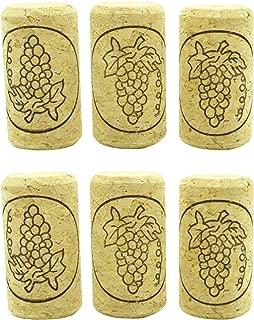 Wine Corks,Migavenn Corks for Bottles Straight Wine Corks with Grape Pattern for Wine Bottle Corking Homemade Wine Making DIY Art Craft 23.5 x 44mm 20pcs