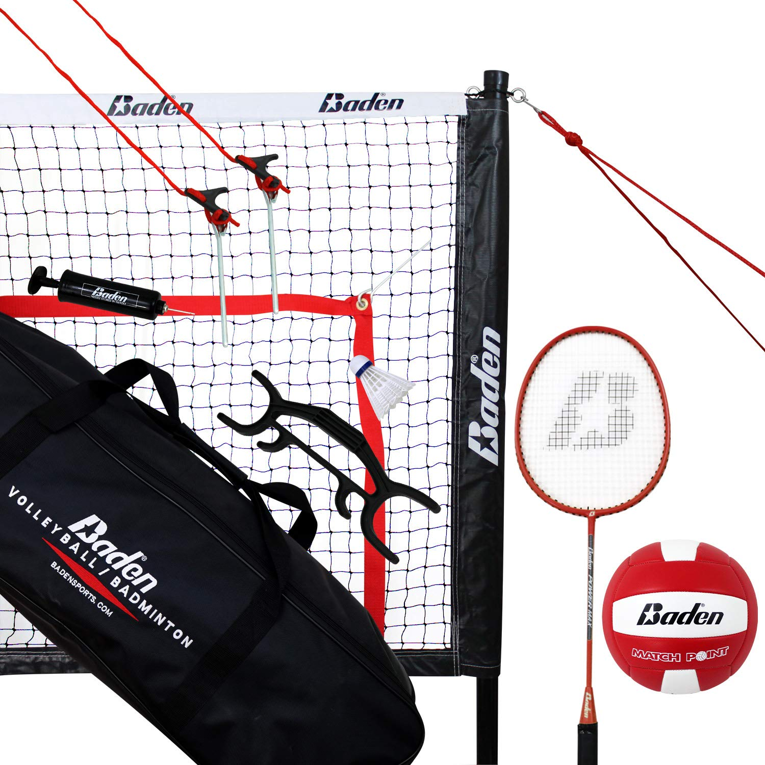 Baden Champions Series Outdoor Combo Badminton Volleyball Set Amazon Sg Sports Fitness Outdoors