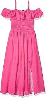 Amy Byer Girls' Big Shoulder Smocked Maxi Dress