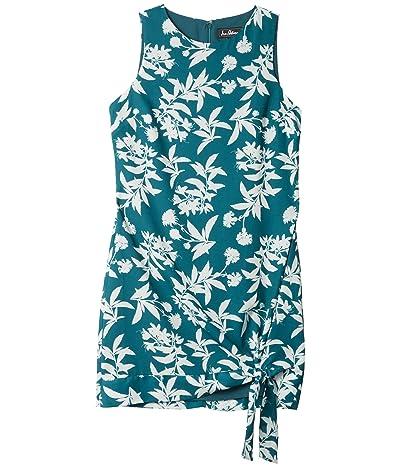 Sam Edelman Shift w/ Side Tie Dress (Green/White) Women