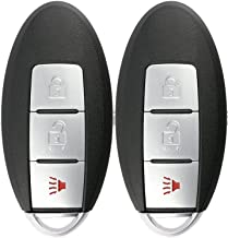 KeylessOption Keyless Entry Remote Smart Car Key Fob for Nissan Leaf, Quest, Juke, Cube, Note CWTWB1U808 (Pack of 2)