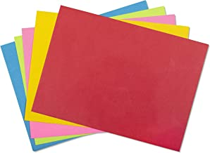 5x7 Envelopes for Invitations, Photos, Graduation, Baby Shower A7 Cards, Weddings, Business, Mailing - Colored Envelope 5 1/4 x 7 1/4 Square Flap Multi Color Pack - 50 Count Box