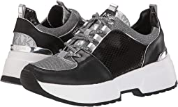 Black/Silver Metallic Small Air Mesh/Patent Solid Snake/Vachetta