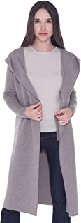 Women's 100% Pure Cashmere Coat Cardigan Overcoat- Double Button Full Length