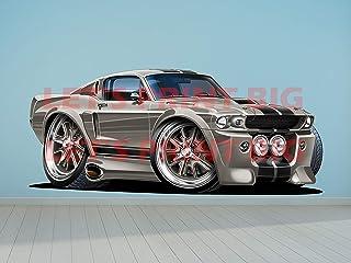 Mustang Shelby GT500 3D Window View Decal WALL STICKER Decor Art Mural Car H84