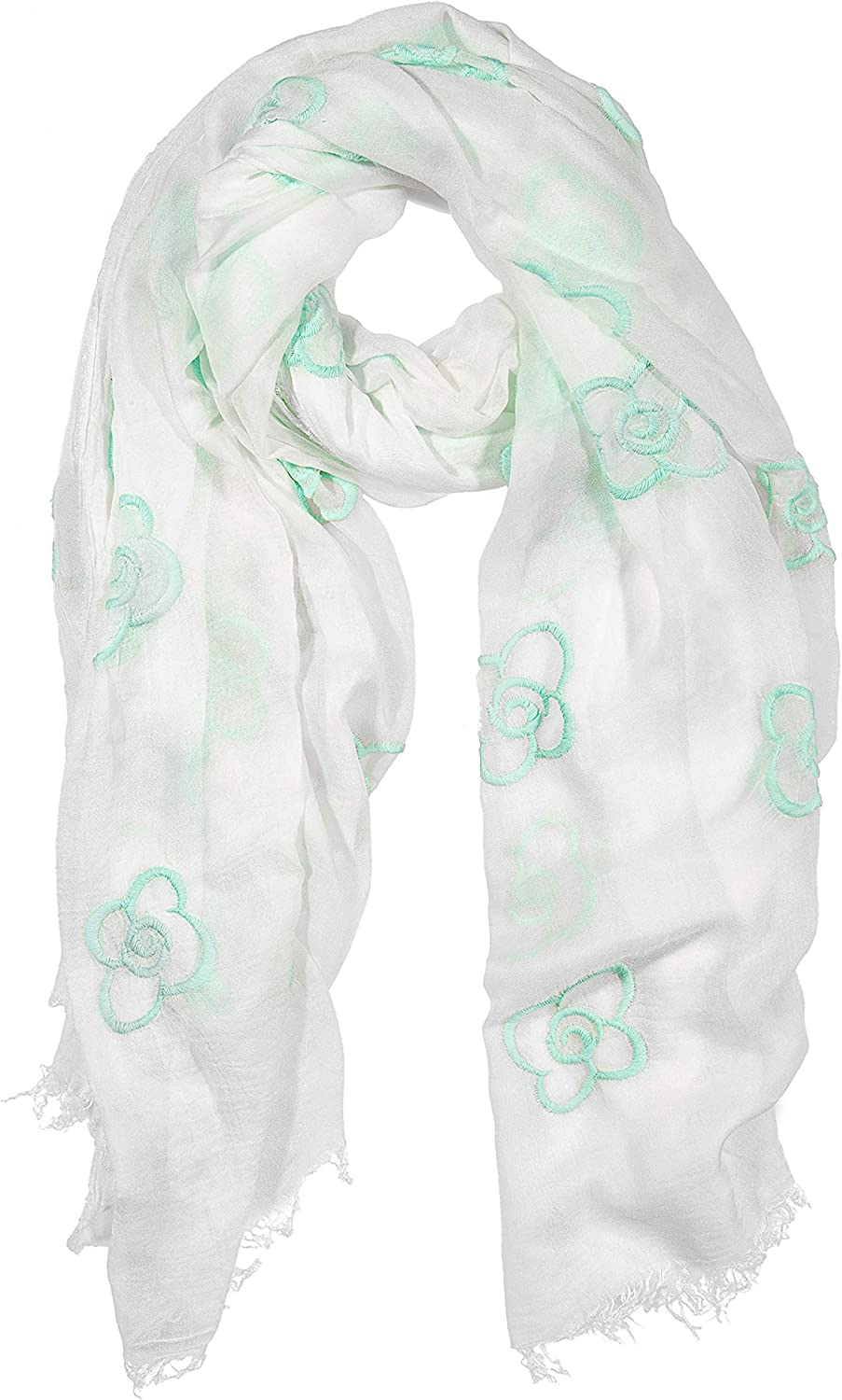 GIULIA BIONDI 100% Made in Luxury Italy Scarf Shawl New item Embroidered Wrap St