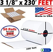 (50 ROLLS) CLOVER Station Clover Pos Printer Thermal Paper 3 1/8 Inch x 230' Paper (50 Rolls) BPA Free Made in USA From BuyRegisterRolls.