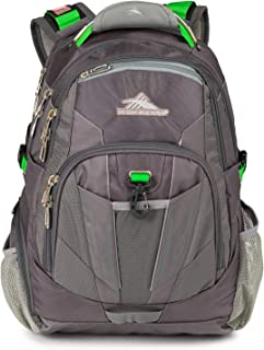 High Sierra XBT TSA Laptop Backpack - Ideal for High School and College Students - Fits Most 17-inch Laptop Models, Charcoal/Silver/Kelly
