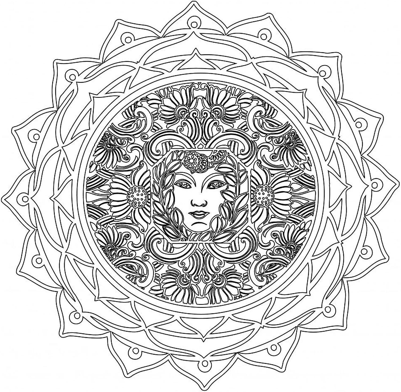 Lebensfreudeladen Mandala Leinwandmalvorlage 322 100 x 100 cm B00G28LI3W | Auf Verkauf
