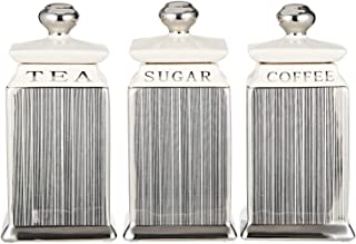 Harmony Silver Line Pattern Canister - 3 Pieces