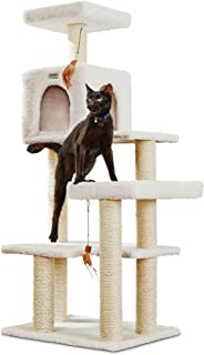 You & Me Scratch & Snooze Station Cat Tree, 19.7