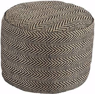 Ashley Furniture Signature Design - Chevron Pouf - Vintage Casual - Handmade - Natural