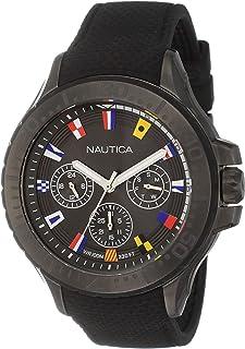 ساعة من نوتيكا للرجال بحركة كوارتز مصنوعة من الراتنج والسيليكون