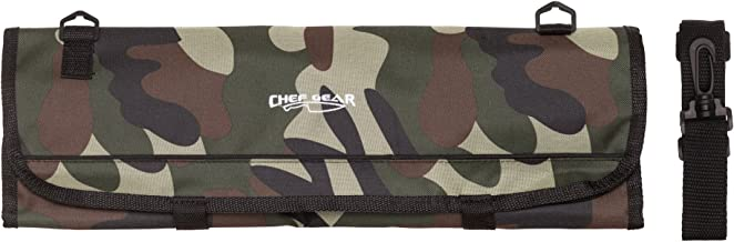 9 Pocket Professional Soft Knife Roll Bag by Ergo Chef (Camouflage)