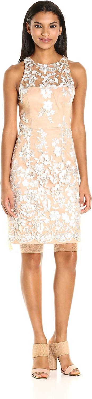 Betsey Johnson Women's Embroidered Mesh Sheath Dress