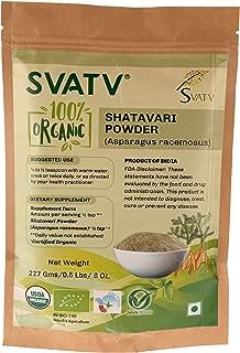 SVATV Shatavari Powder (Asparagus Racemosus) 1/2 LB, 08 oz, 227g USDA Certified Organic- Zip Lock Pouch, Rejuvenative for Vata and Pitta That Promotes Vitality and Strength*