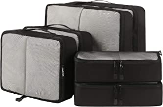 Bagail 6 Set Packing Cubes,3 Various Sizes Travel Luggage Packing Organizers