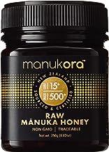 Manukora UMF 15+/MGO 500+ Raw Manuka Honey (250g/8.8oz) Authentic Non-GMO New Zealand Honey, UMF & MGO Certified, Traceabl...