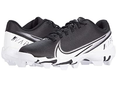 Nike Kids Vapor Shark BG Football (Toddler/Little Kid/Big Kid) (Black/White) Kids Shoes