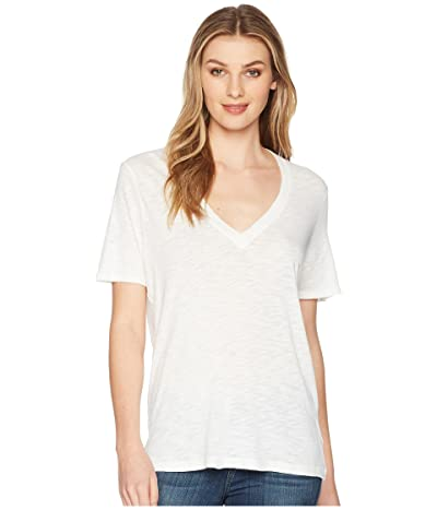 Splendid Everly Short Sleeve Cotton Modal Slub V-Neck Tee Women