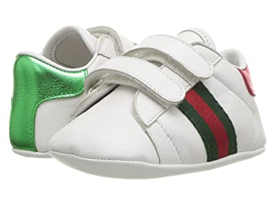 Gucci Kids New Ace Sneakers (Infant/Toddler) (Camelia/Black/Purple) Kid