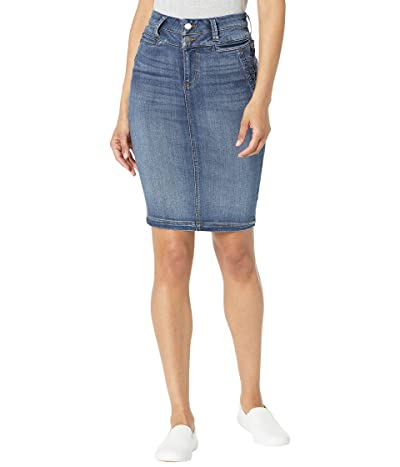 Liverpool Double Waistband Welt Pocket Skirt in Victory