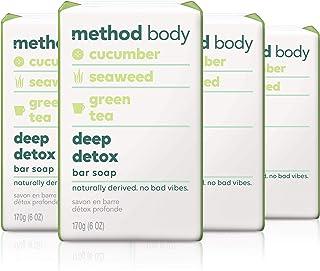 Method Experiential Bar Soap, Deep Detox, 4 Count