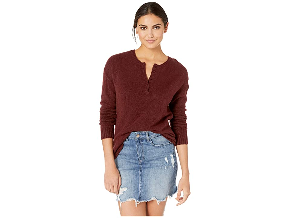 RVCA Urboyfriends Knit Henley Sweater (Magenta Fade) Women