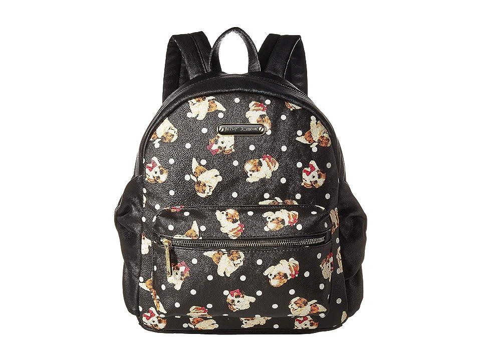 Betsey Johnson Side Bow Backpack (Black/Multi) Backpack Bags