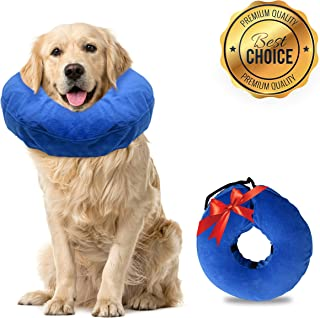 Laboratory 29 Inflatable Dog Collar, Comfy Cone for Dogs, Dog Recovery Collar, Soft Dog Cone, Dog Cone for Dogs and Cats, Washable, Bite and Scratch Resistant