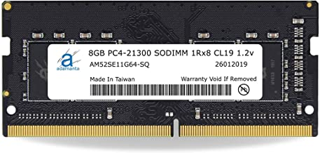 Adamanta 8GB (1x8GB) Laptop RAM Upgrade Compatible for Dell Alienware, G-Series, Inspiron, Latitude, Optiplex, Precision, Vostro & XPS DDR4 2666Mhz PC4-21300 SODIMM 1Rx8 CL19 1.2v P/N: SNPHYXPXC/8G