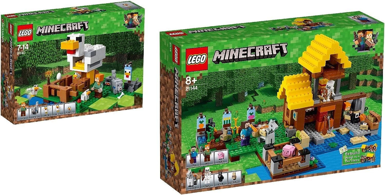 LEGO Minecraft 2er Set  21140 Hühnerstall  21144 Farmhäuschen B079Y6HX8B  Schönes Design     | Qualität