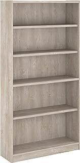 Bush Furniture Universal 5 Shelf Bookcase, Washed Gray