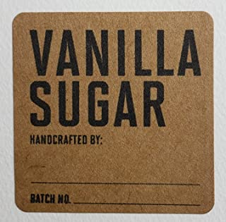 vanilla sugar labels