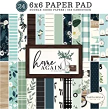 Carta Bella Paper Company Home Again 6x6 Pad paper, green, blue, woodgrain, black, teal