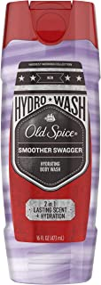 Old Spice Hydro Body Wash for Men, Smoother Swagger Scent, Hardest Working Collection, 16 Ounce (Pack of 4)