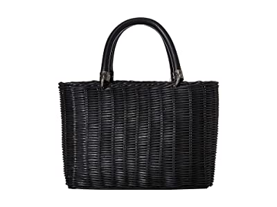 Sam Edelman Lucy Basket (Black/Denim) Handbags