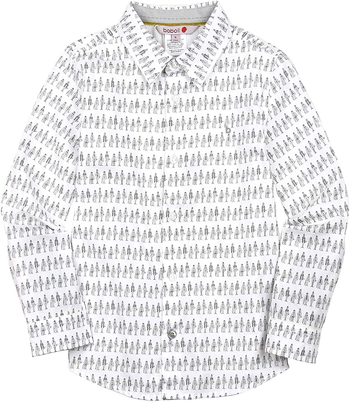 Boboli Boys Printed Dress Shirt, Sizes 4-16