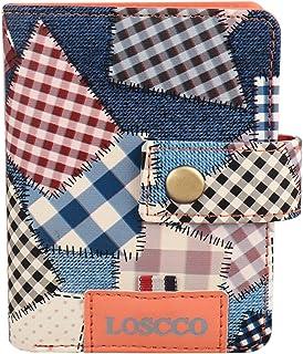 Loscco 213 Blue Women's Book Artificial Leather Women's Wallet
