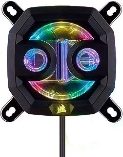 Corsair Hydro X Series, XC7 RGB Bloque de Refrigeración Líquida para CPU para Intel 115X/AMD AM4 Zócalo, refrigeración sin concesiones, Personalizable iluminación RGB, fácil instalación, Negro