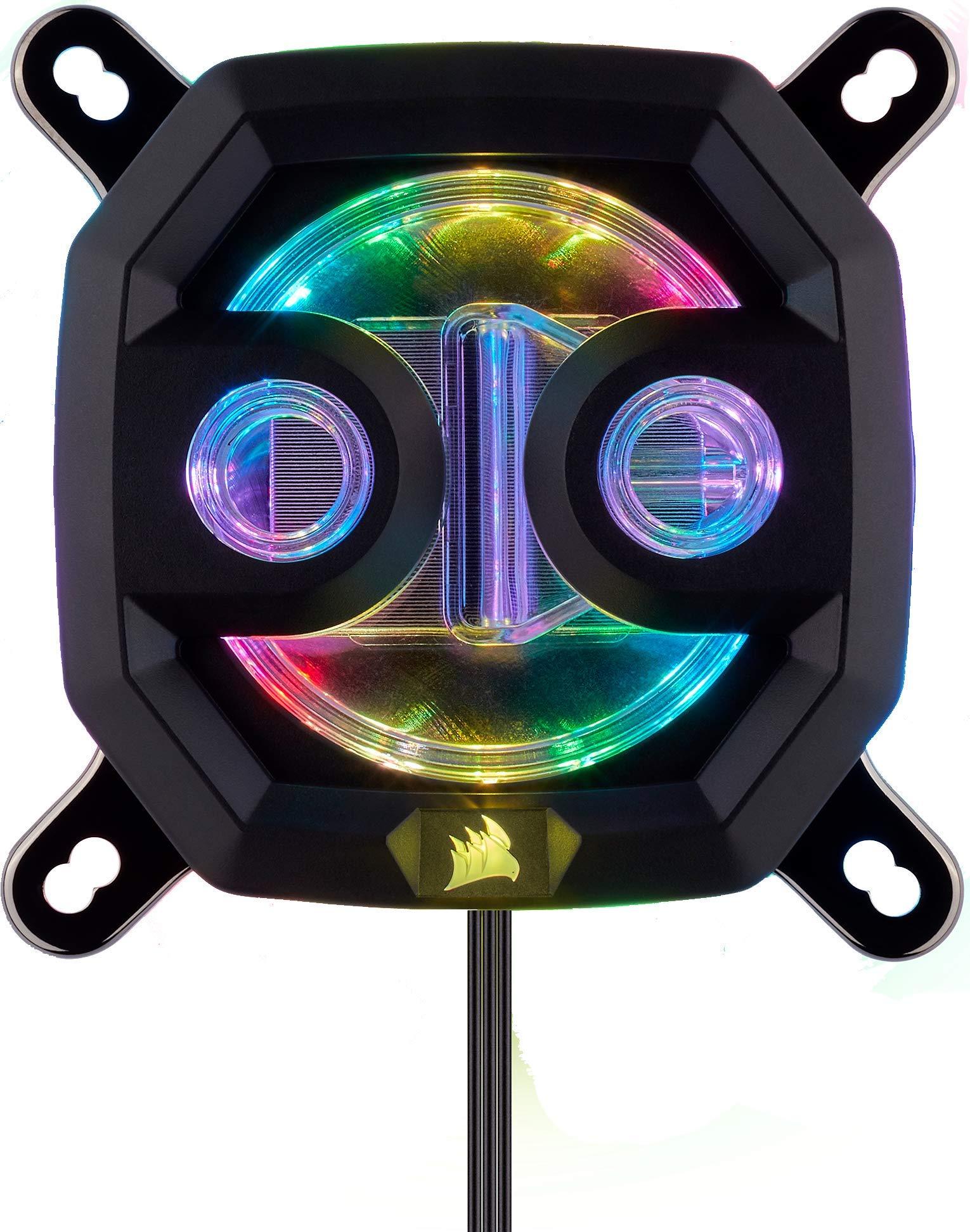 Corsair Hydro X Series, XC7 RGB Bloque de Refrigeración Líquida para CPU para Intel 115X/AMD AM4 Zócalo, refrigeración sin concesiones, Personalizable iluminación RGB, fácil instalación, Negro: Amazon.es: Informática