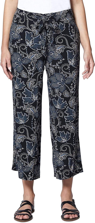 Sanctuary Womens Calypso Floral Print Tie-Front Wide Leg Pants