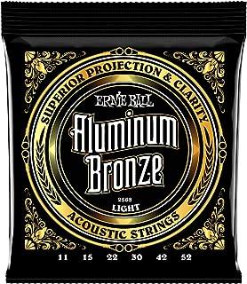 Best Ernie Ball Aluminum Bronze Light Acoustic Set, .011 - .052 Review