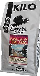 Larry's Organic Fair Trade Whole Bean Coffee, Bolivia - Light Roast, 2.2 Pound