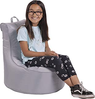 Cali Paddle Out Sack Bean Bag Chair, Dirt-Resistant Coated Oxford Fabric, Flexible Seating for Kids, Teens, Adults, Furniture for Bedrooms, Dorm Rooms, Classrooms - Gray