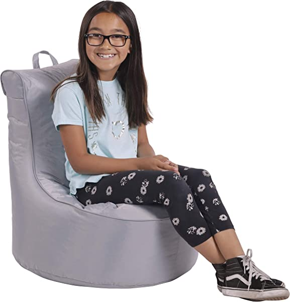 Cali Paddle Out Sack Bean Bag Chair Dirt Resistant Coated Oxford Fabric Flexible Seating For Kids Teens Adults Furniture For Bedrooms Dorm Rooms Classrooms Gray