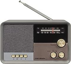 Crosley CR3036D Tribute Vintage AM/FM Bluetooth Radio, Charcoal