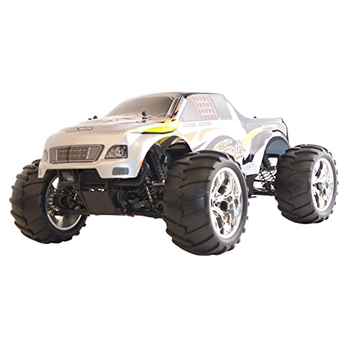 ALEKO 1081 4WD Nitro Powered High Speed Off Road Monster Truck Vertex 18 CXP, Silver