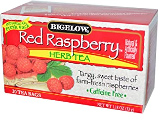Bigelow, Herb Tea, Red Raspberry, Caffeine Free, 20 Tea Bags, 1.18 oz (33 g)( 1 Pack )