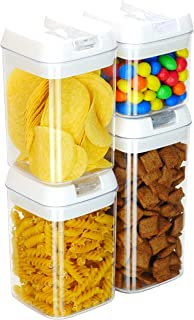 ASA Airtight Food Storage Containers Set - Dry Goods Kitchen Storage Containers For Flour and Sugar with Lids - Cereal Container - Felli Flip Tite Containers
